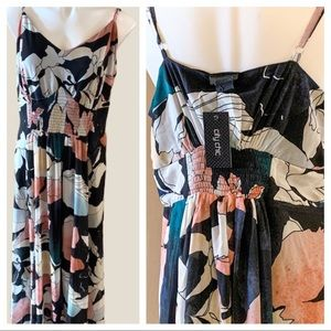 CITY CHIC Maxi Monographic Dress Size S/16W NWT